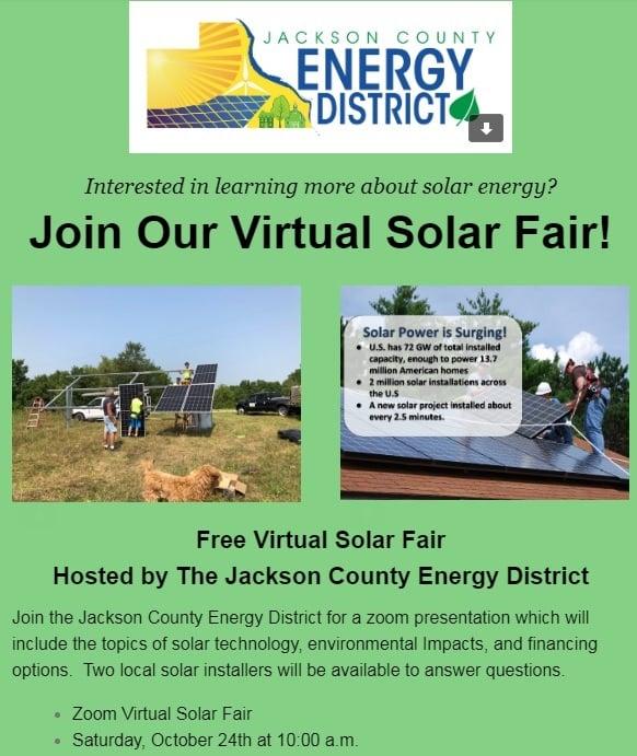 Virtual Solar Fair, October 24!